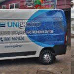 Bus oklejony dla firmy Uni Gastro