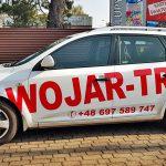 Samochód oklejony dla firmy Wojar-Trans